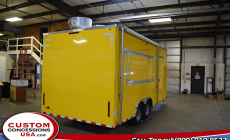 Horner Yellow Concession Trailer Mobile Kitchen 14